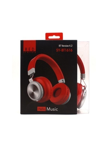 Bludfire Sy-Bt 1616 Bluetooth Kulaküstü Kulaklık Kırmızı Kırmızı